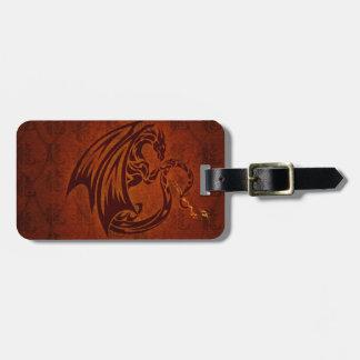 Dragon Luggage Tag w/ leather strap