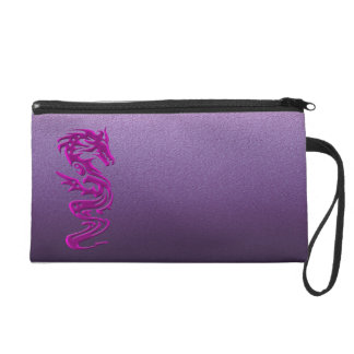 Dragon magenta wristlet clutches