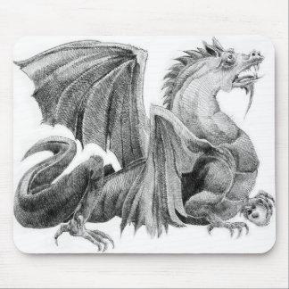 Dragon Master B&W Mousepad