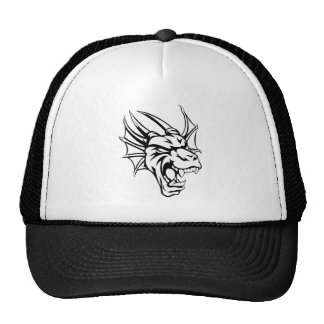 Dragon Mean Animal Mascot Cap