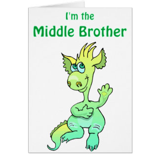 dragon middle brother greeting card