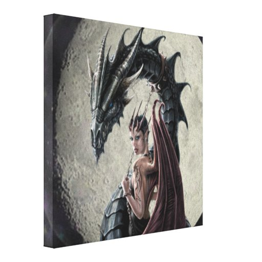 Dragon Mistress - Wrapped Canvas Stretched Canvas Prints