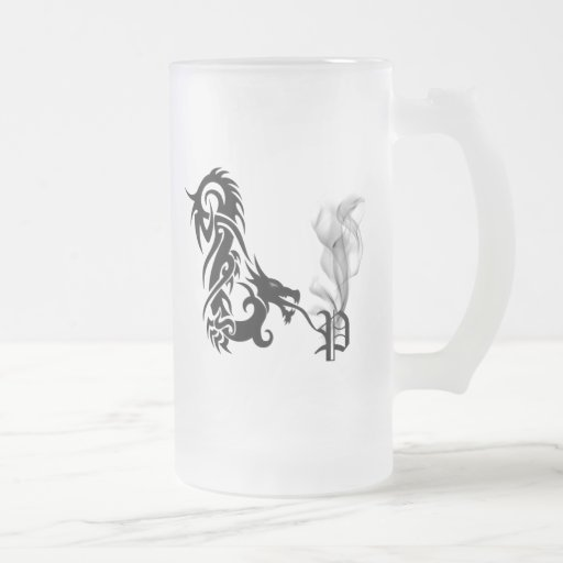 Dragon Monogram P Mug