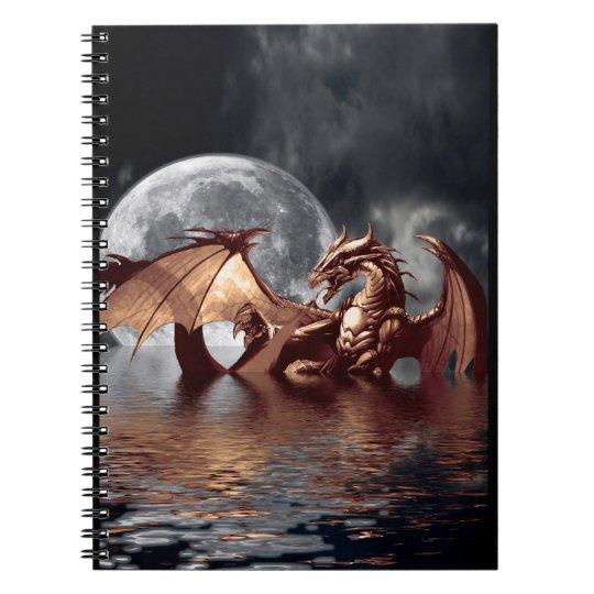 Dragon & Moon Fantasy Art Notebook
