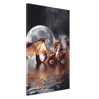 Dragon & Moon Fantasy Art Print