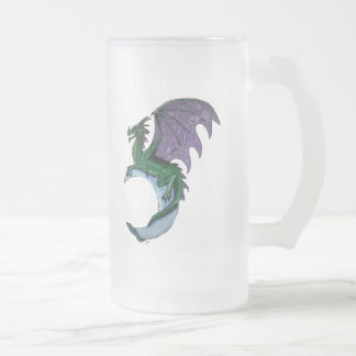 Dragon moon frosted glass frosted glass beer mug