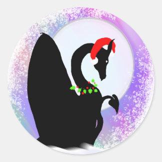 Dragon Moon Holiday (Colorful Haze) Round Sticker