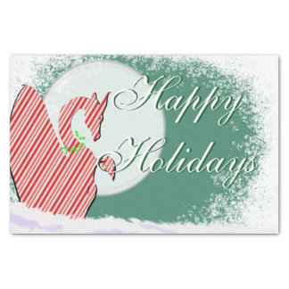"Dragon Moon I Holiday (Green) 10"" X 15"" Tissue Paper"