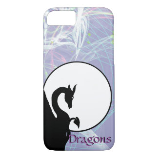 Dragon Moon I (Lavender Fractal) iPhone 7 Case