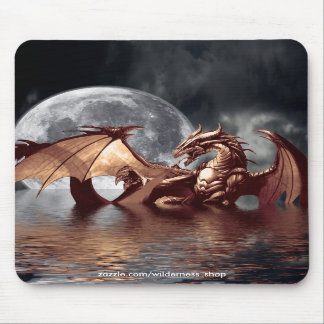 Dragon & Moon Mousepad