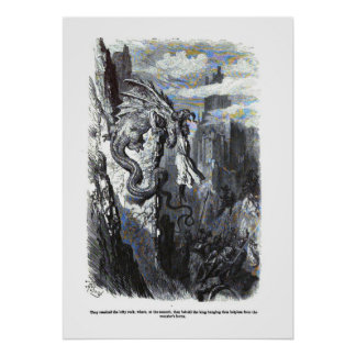 Dragon Myth Poster Gustave Dore