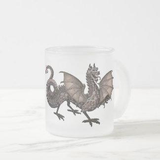 Dragon, Mythological Beast Frosted Glass Coffee Mug