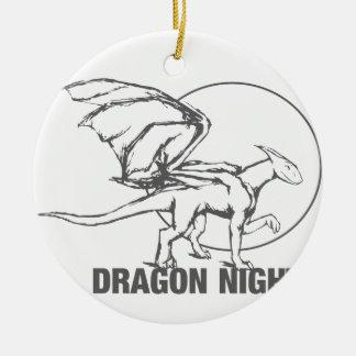 Dragon Night - Design Round Ceramic Decoration