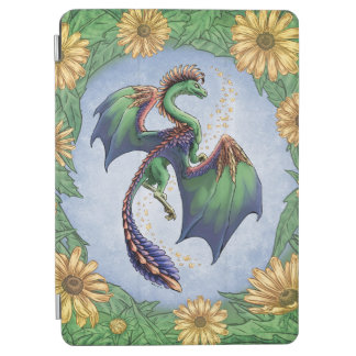 """Dragon of Summer"" Flowers and Leaves Fantasy Art iPad Air Cover"