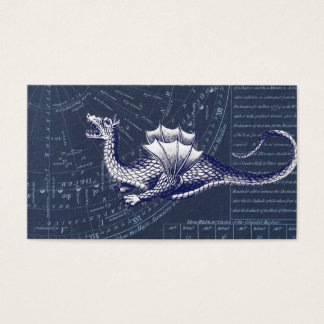 Dragon on Bue Gobal Chart Business Card