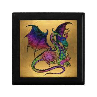 dragon on gold gift box