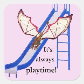 Dragon on Slide Square Sticker