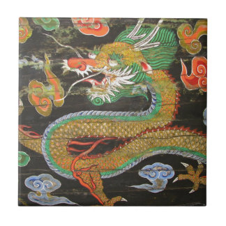 Dragon painting on the Korean ceiling of Sungnyemu Small Square Tile