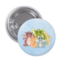 Dragon Pals Pixel Art 3 Cm Round Badge