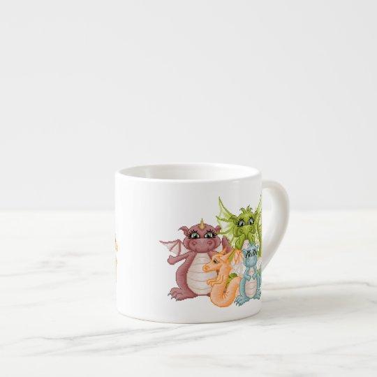 Dragon Pals Pixel Art Espresso Cup