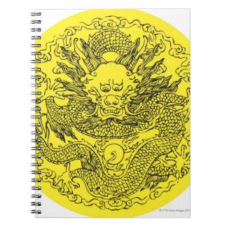 Dragon pattern 11 spiral notebook
