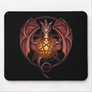 Dragon pentagram mouse pad