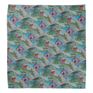 Dragon Pet Patterned Kerchiefs