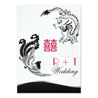 Dragon-Pheonix Double Happiness Wedding Invite
