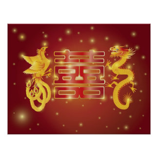 Dragon Phoenix Wedding Poster