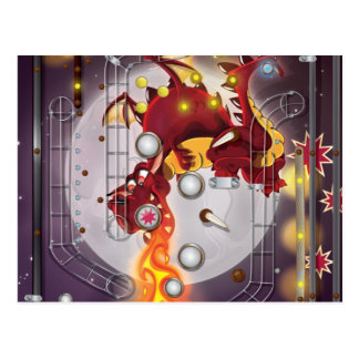 Dragon Pinball machine Postcards