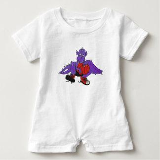 Dragon playing basketball baby bodysuit