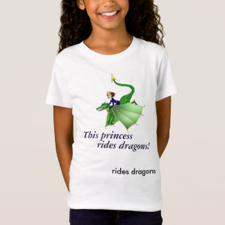 Dragon Princess Shirt, with words, ages 5 and up T-Shirt