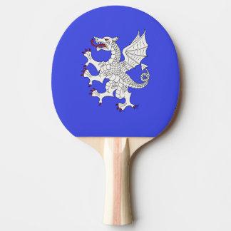 Dragon Rampant Argent Ping Pong Paddle