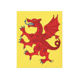 Dragon Rampant Gules Canvas Print