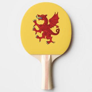 Dragon Rampant Gules Ping Pong Paddle