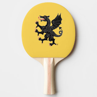 Dragon Rampant Sable Ping Pong Paddle