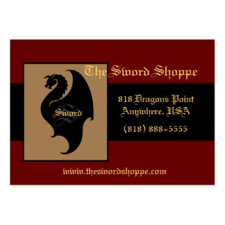 Dragon Red & Black Monogram Business Card