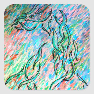 Dragon - Ribbon Series - CricketDiane Designs Square Sticker
