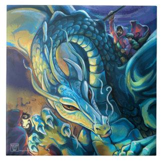 Dragon Rider and Sorcerer Large Square Tile