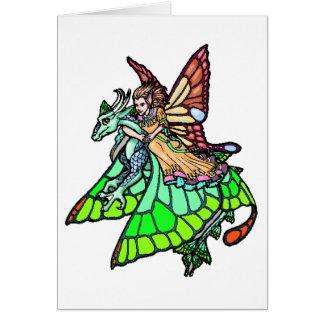 Dragon Rider Fairy Greeting Card