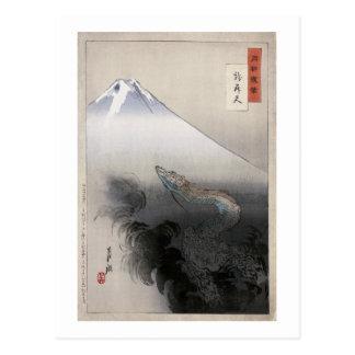 Dragon Rising to Heavens Ogata Gekko Fine Art Postcard