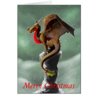 Dragon Robin Christmas Card