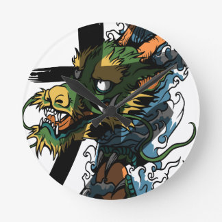 Dragon Round Clock