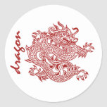 dragon round sticker