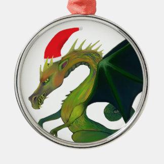 Dragon Santa Christmas Ornament
