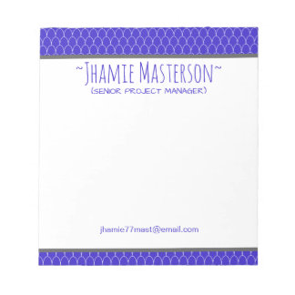 Dragon Scaled Blue Notepad
