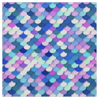 """""""Dragon Scales"""" - blue, orchid and lavender Fabric"""