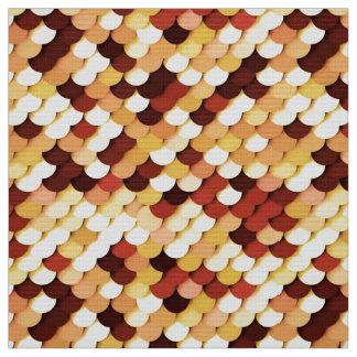 """Dragon Scales"" - chocolate, tan, rust and cream Fabric"