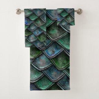 Dragon Scales - Emerald Bath Towel Set