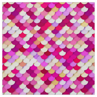 """""""Dragon Scales"""" - magenta, pink and gold Fabric"""